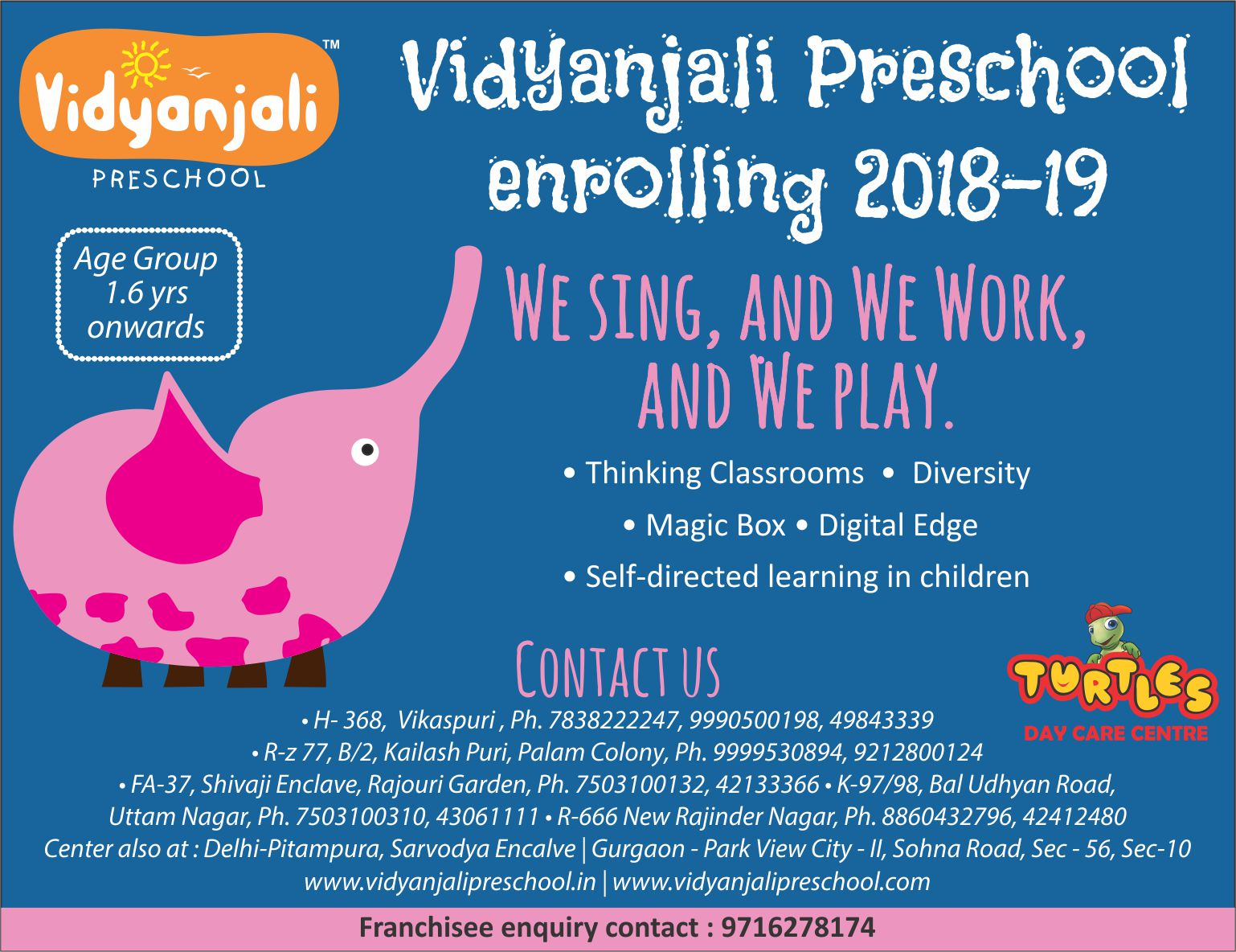 Play School Admission Open 2018